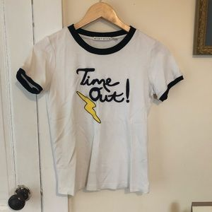 NWOT Alice + Olivia Time Out Tee